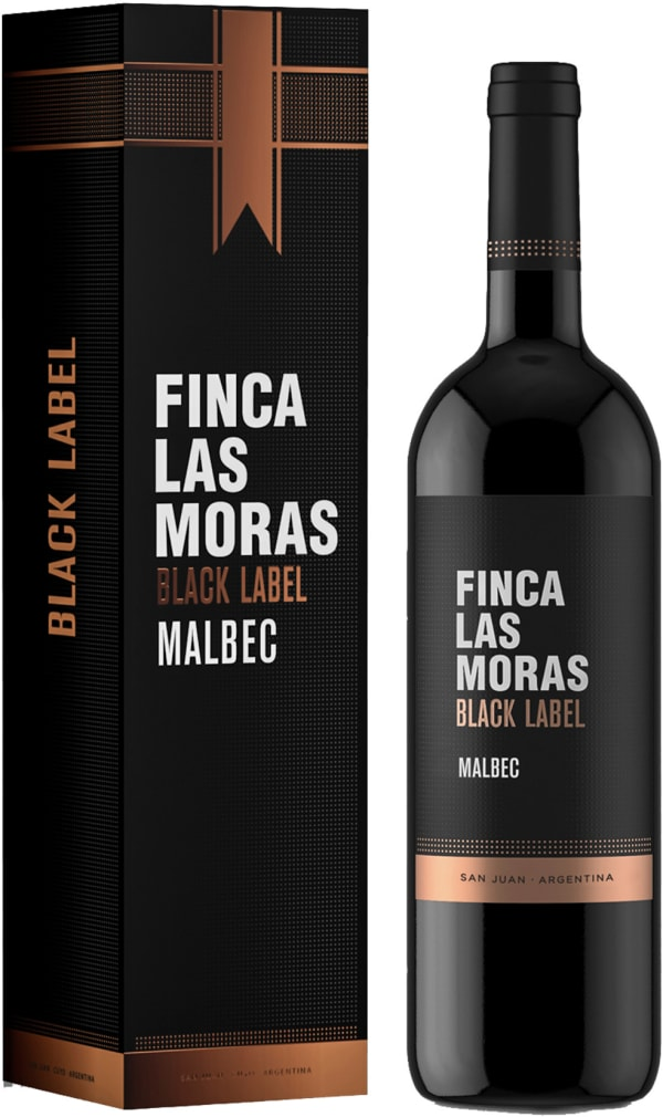 Finca Las Moras Black Label Malbec 2017 presentförpackning