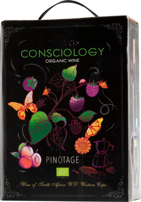 Consciology Organic Pinotage 2018 lådvin