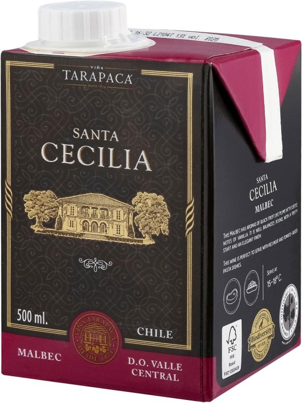 Tarapacá Santa Cecilia Malbec 2020 carton package