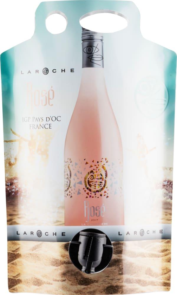 Laroche La Chevalière Rosé 2018 wine pouch