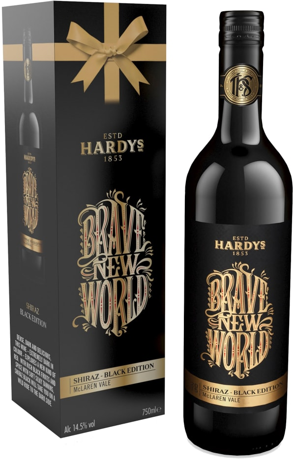 Hardys Brave New World Shiraz Black Edition 2016 presentförpackning