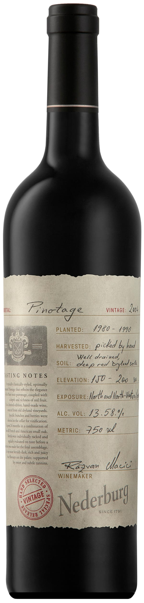 Nederburg Hand Selected Special Release Pinotage 2004