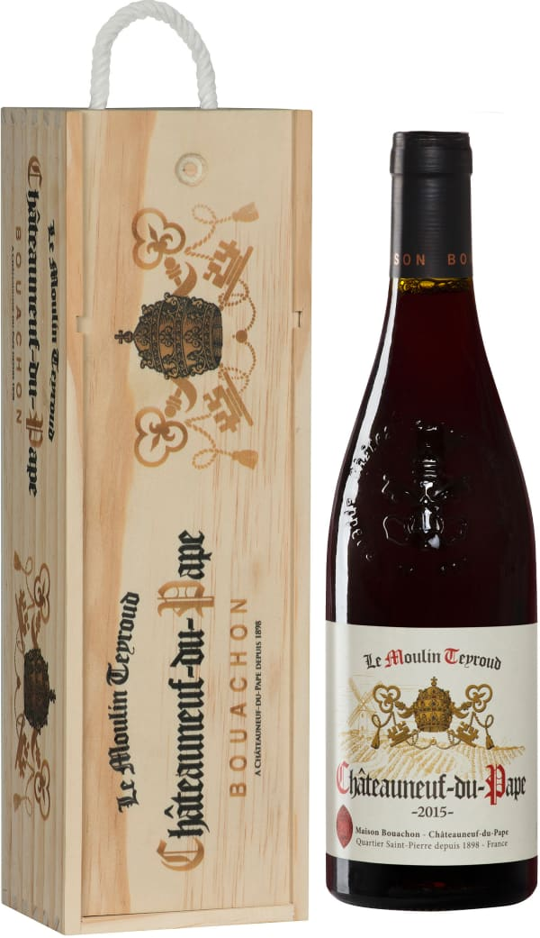 Châteauneuf-du-Pape Le Moulin Teyroud 2017 gift packaging