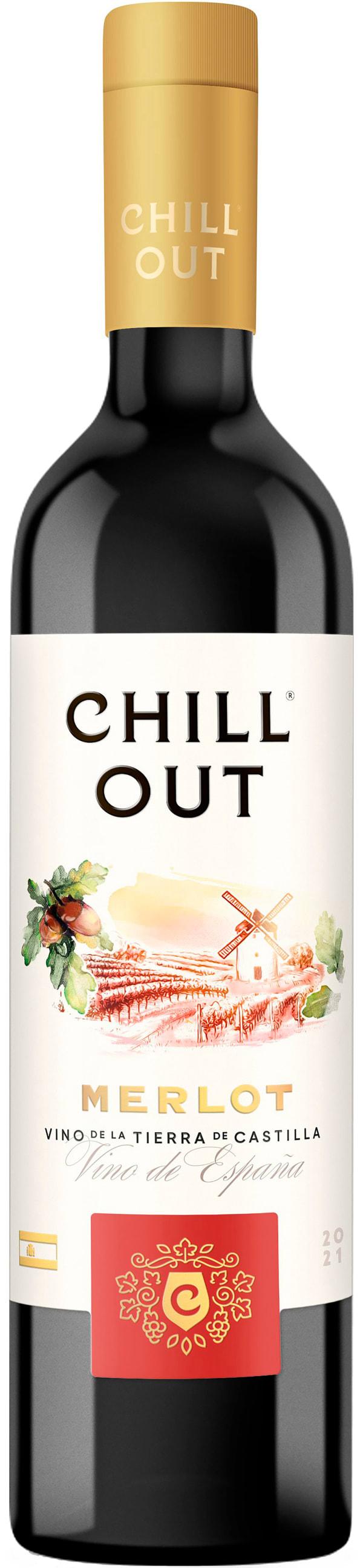Chill Out Merlot Spain  2017 plastic bottle