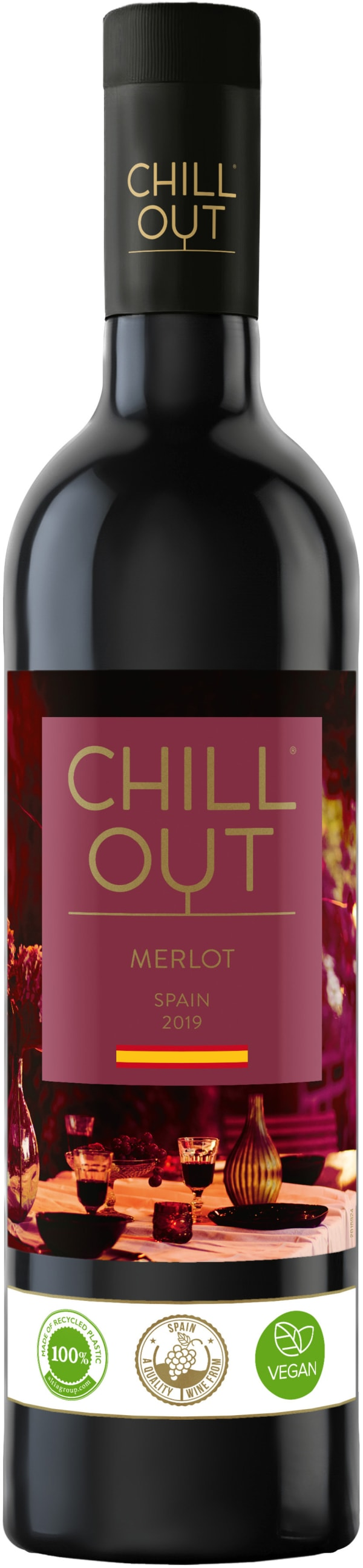 Chill Out Merlot Spain  2018 plastflaska
