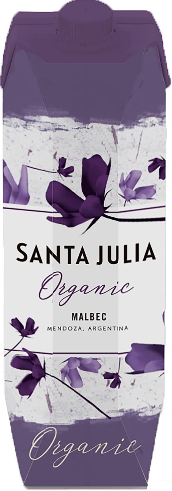 Santa Julia Organic Malbec 2017 kartonkitölkki