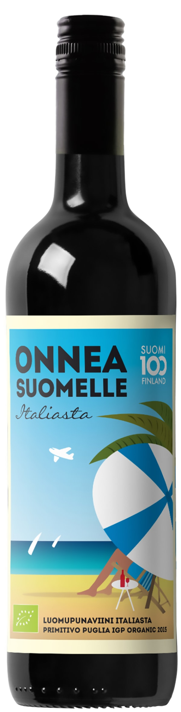 Onnea Suomelle Italiasta Organic Primitivo 2015