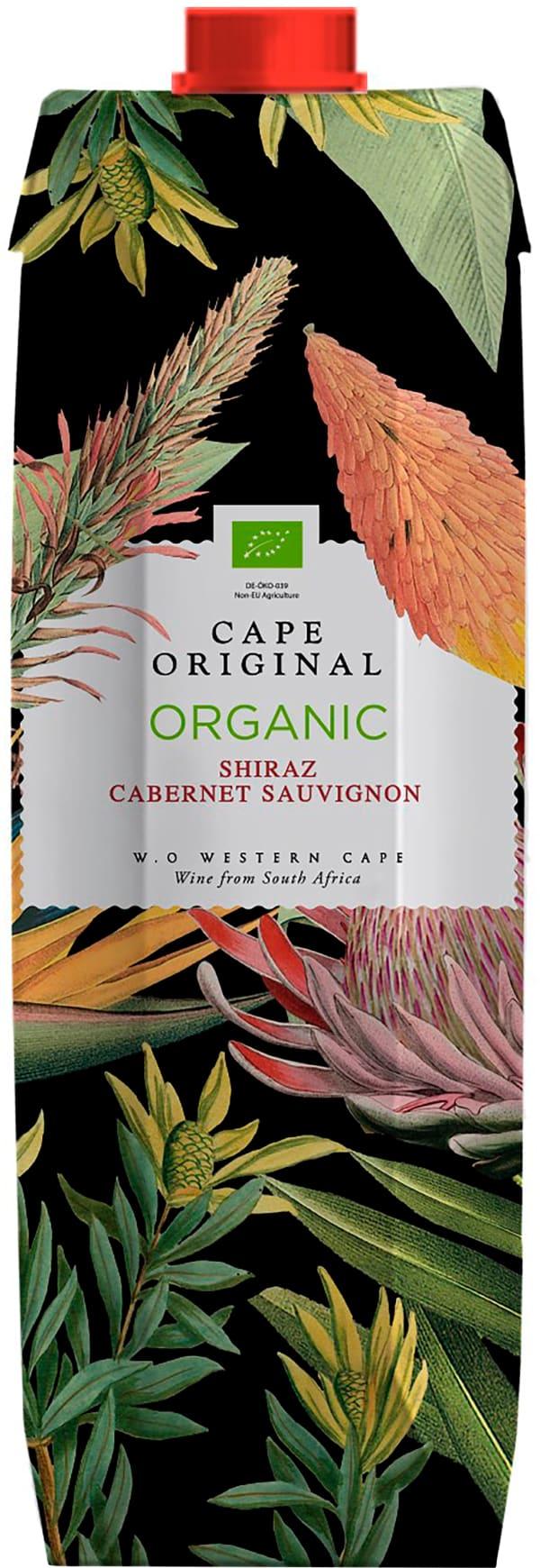 Cape Original Shiraz Cabernet Sauvignon Organic 2017 kartonkitölkki