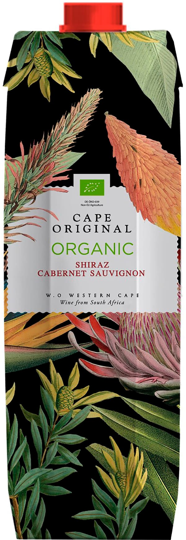 Cape Original Shiraz Cabernet Sauvignon Organic 2018 carton package
