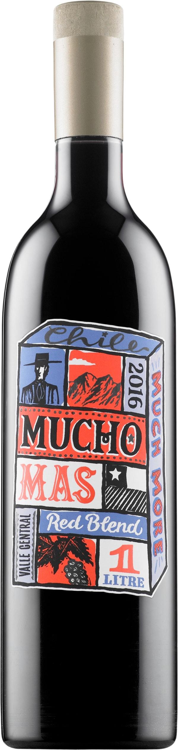 Mucho Mas Red Blend 2018 plastic bottle