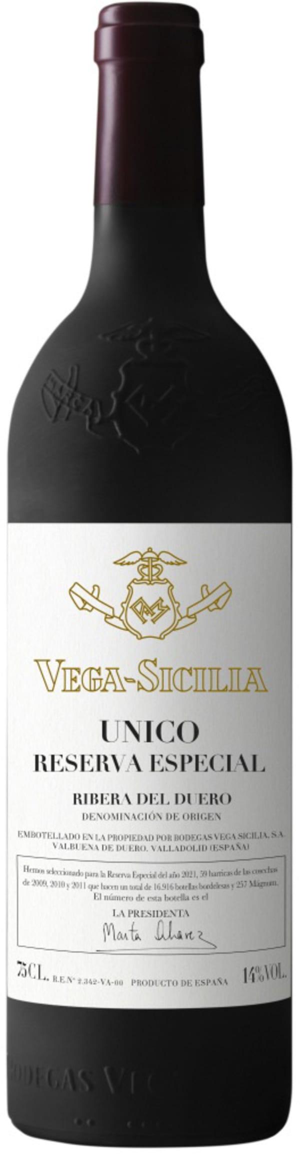 Vega-Sicilia Unico Reserva Especial del año 2021 Magnum