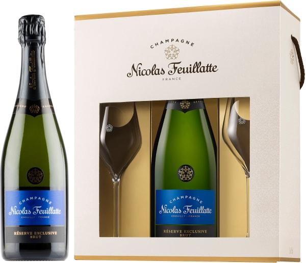 Nicolas Feuillatte Réserve Exclusive Champagne Brut lahjapakkaus