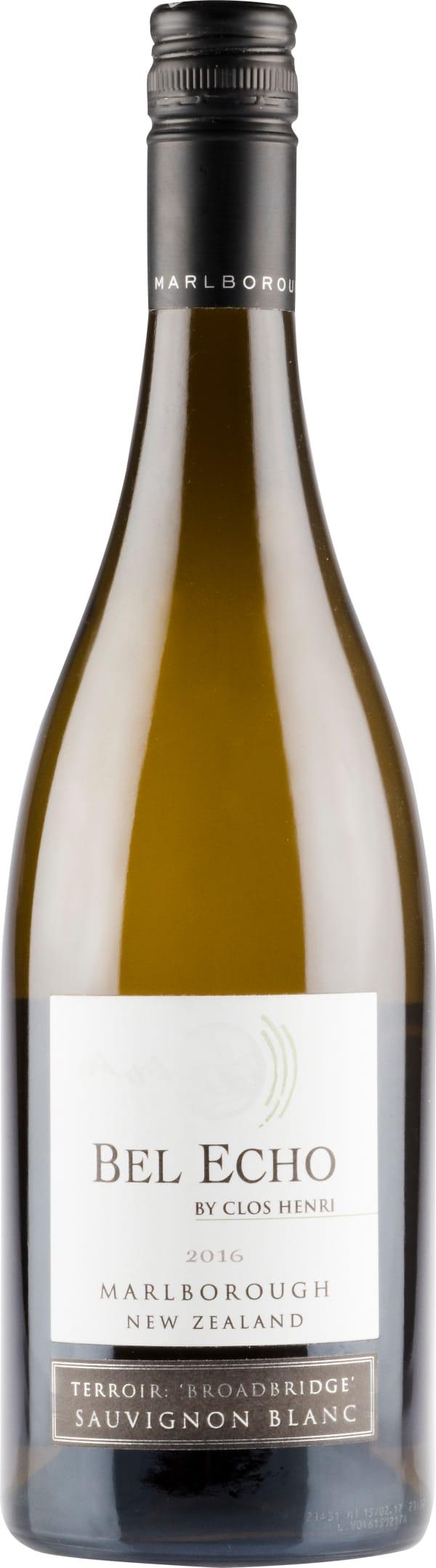 Bel Echo by Clos Henri Terroir Broadbridge Sauvignon Blanc 2016