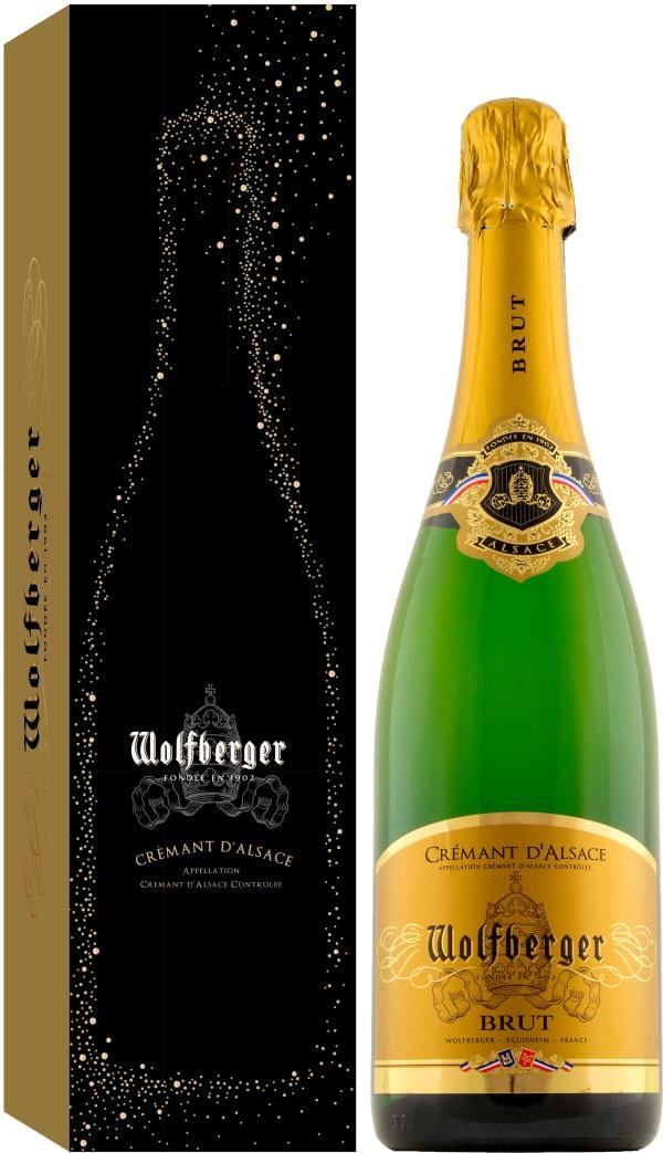 Wolfberger Crémant d'Alsace Brut presentförpackning