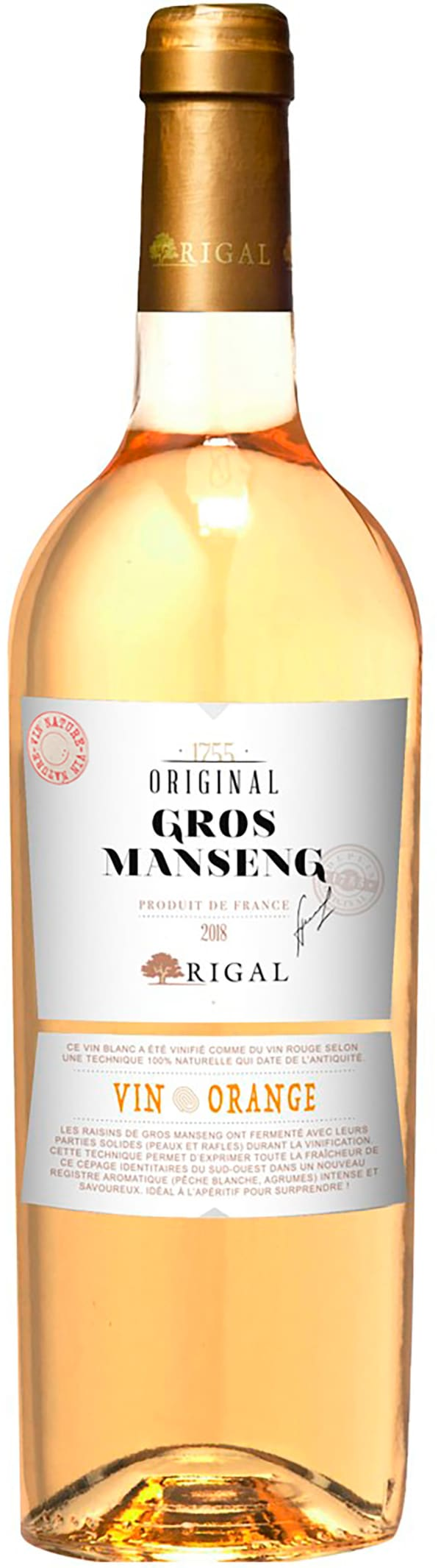 Rigal Original Gros Manseng Vin Orange 2018