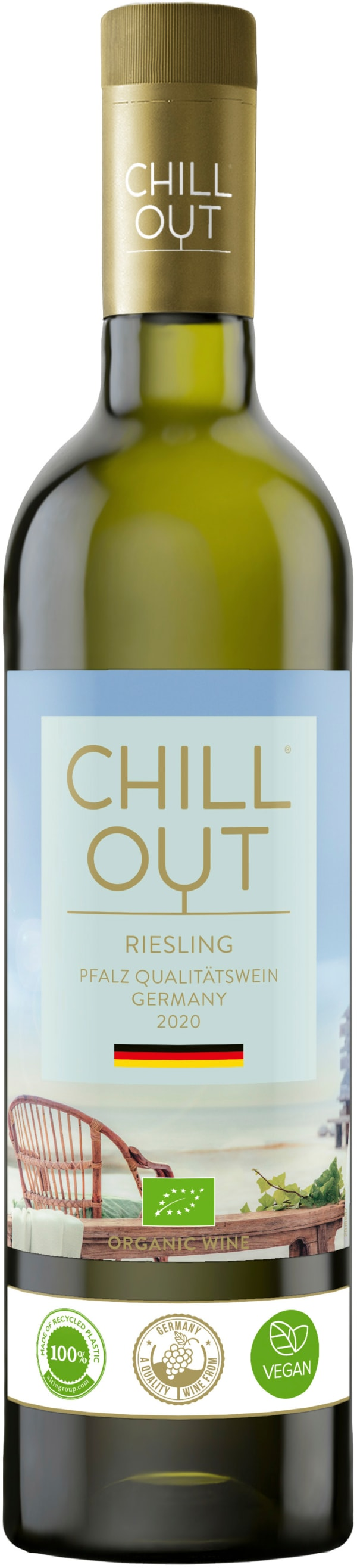Chill Out Crisp & Fruity Riesling Organic 2016 plastflaska