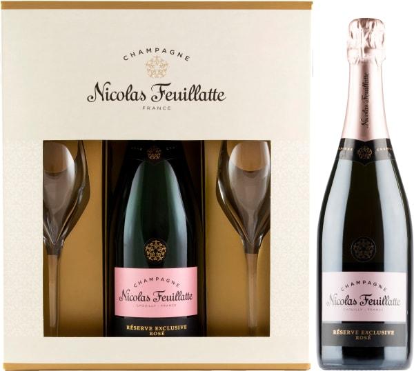 Nicolas Feuillatte Réserve Exclusive Rosé Champagne Brut gift packaging