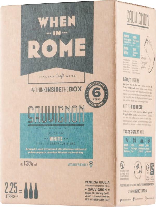 When in Rome Sauvignon lådvin