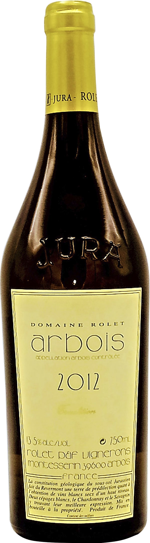 Domaine Rolet Arbois Blanc Tradition 2012