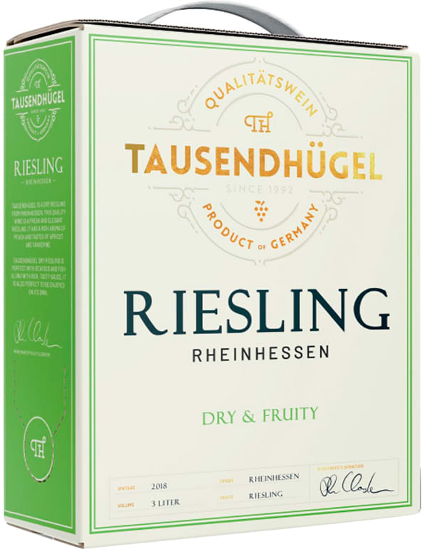 Tausendhügel Dry Riesling 2018 bag-in-box