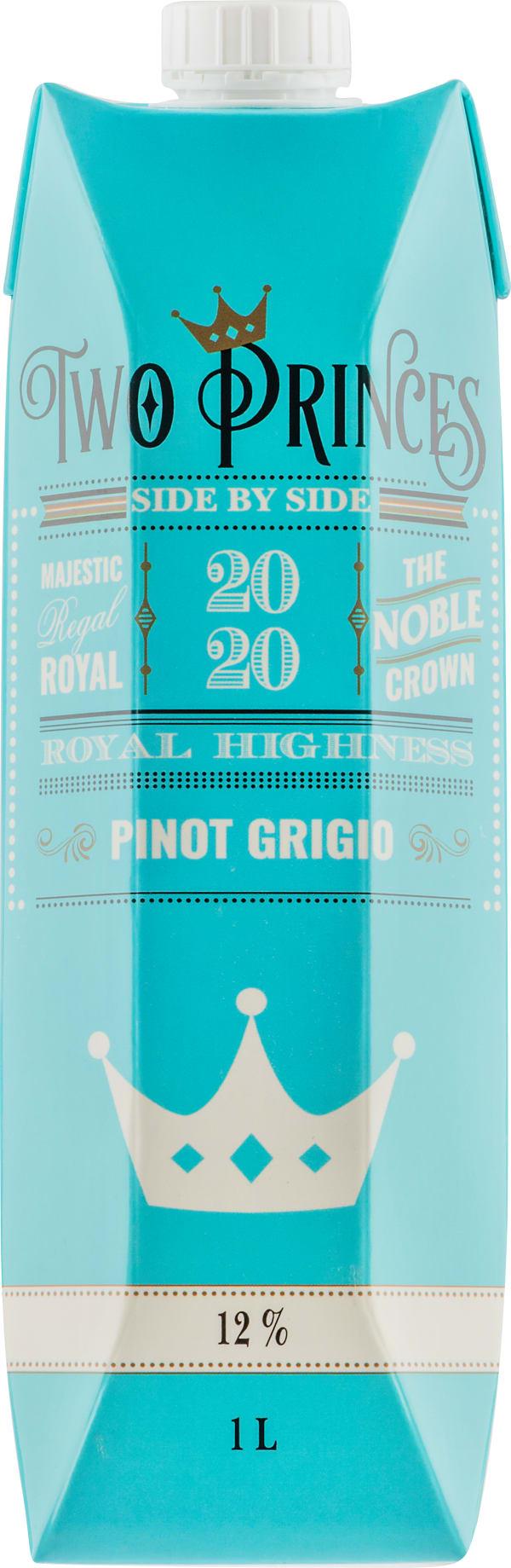 Two Princes Pinot Grigio 2020 carton package