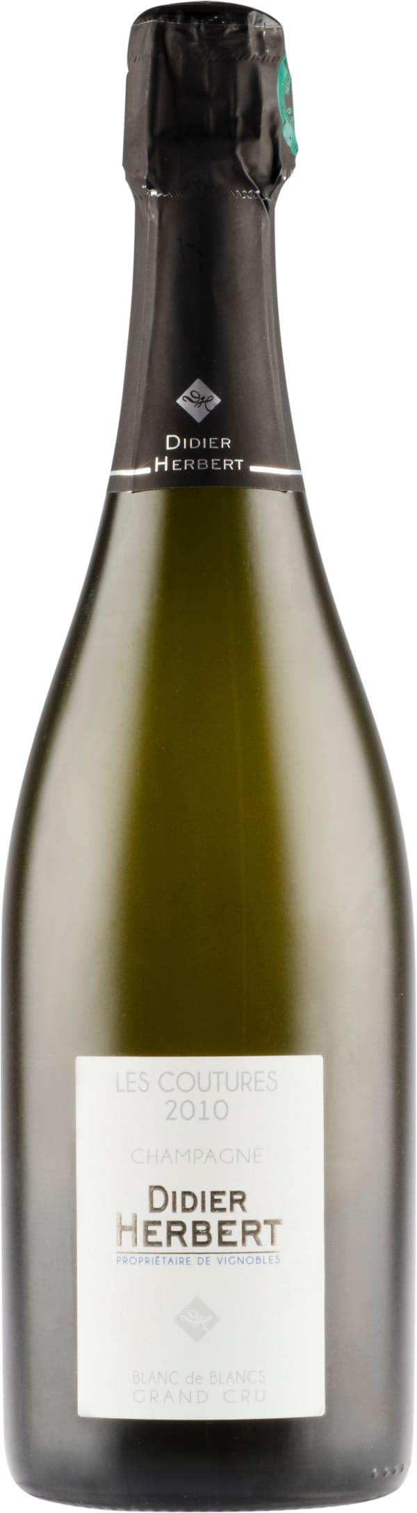 Didier Herbert Grand Cru Blanc de Blancs Les Coutures Champagne Brut 2010