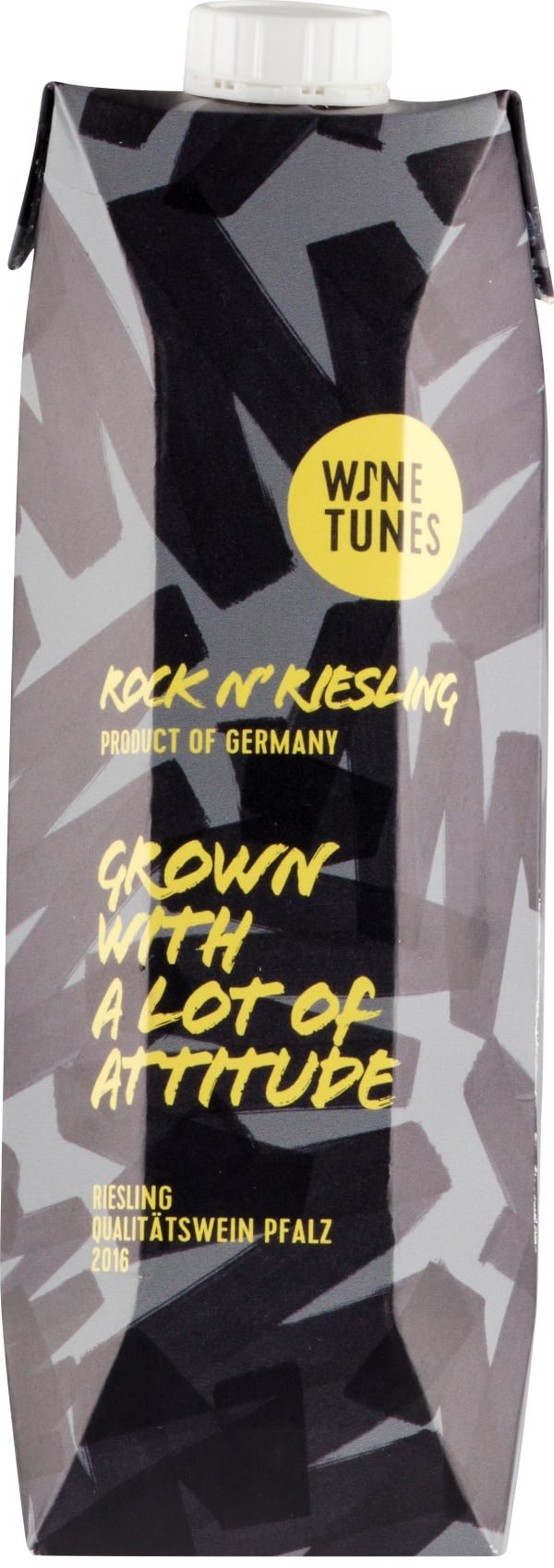 Wine Tunes Rock'n Riesling 2018 carton package