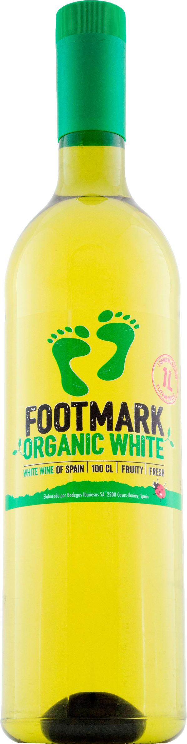 Footmark Organic White plastflaska