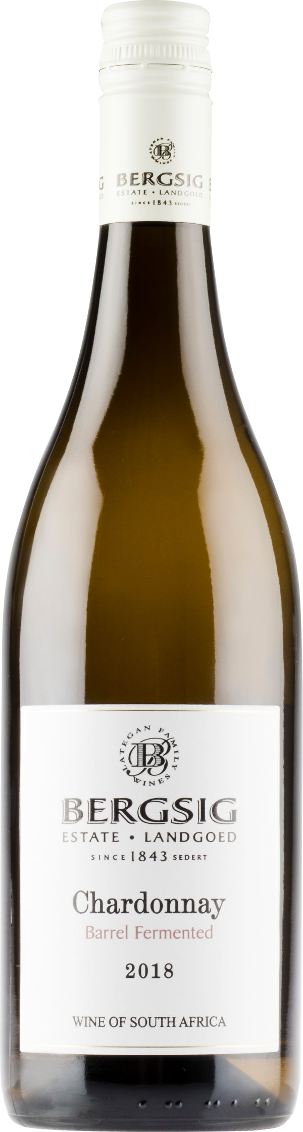 Bergsig Estate Barrel Fermented Chardonnay 2018