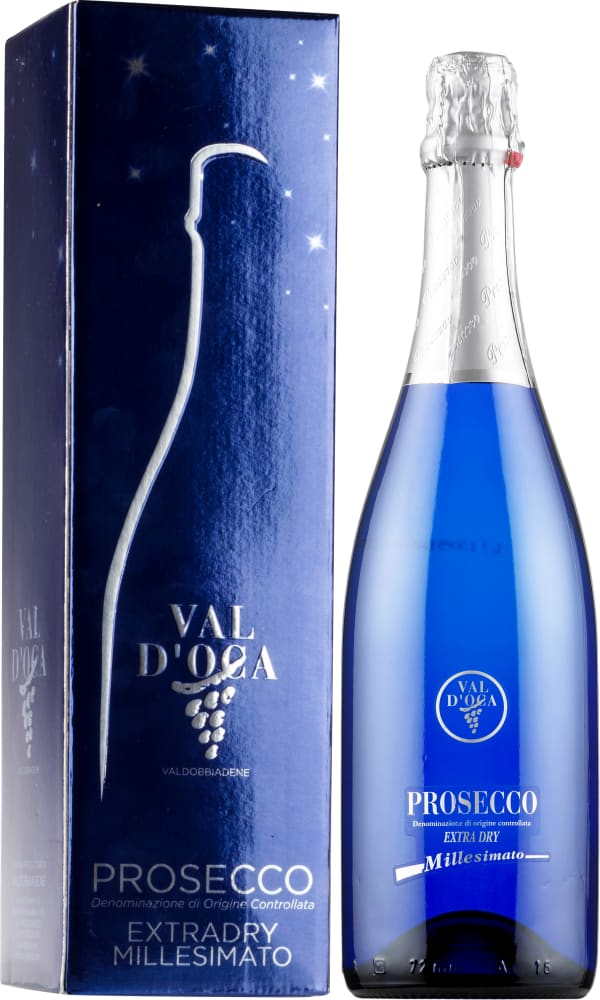 Val d'Oca Millesimato Prosecco Extra Dry 2018 gift packaging