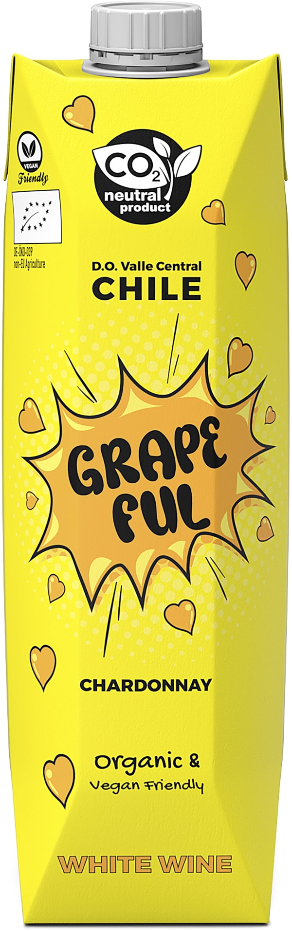 Grapeful Chardonnay Organic 2020 kartongförpackning