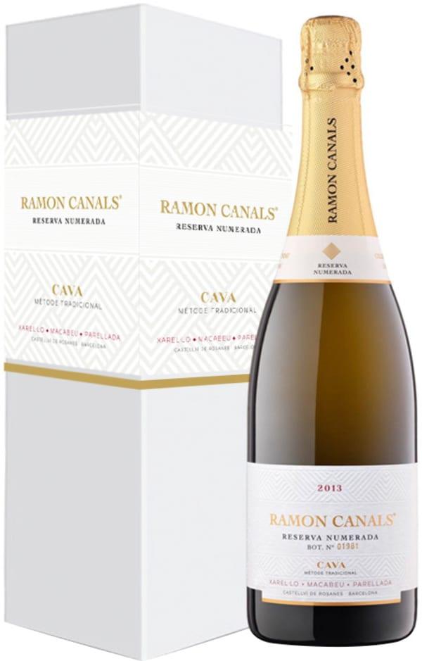 Ramon Canals Reserva Numerada Cava Seco 2016 presentförpackning