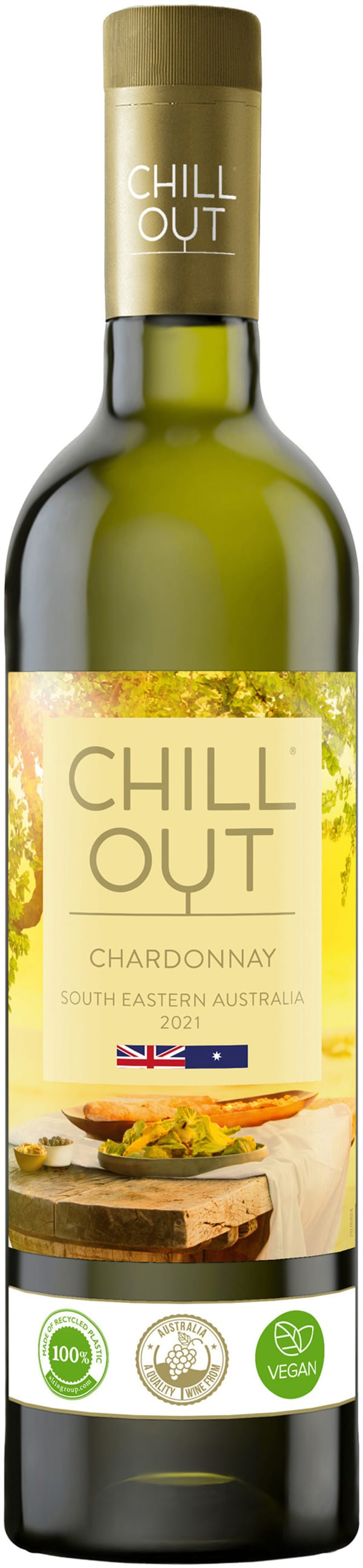 Chill Out Chardonnay Australia 2018 plastic bottle