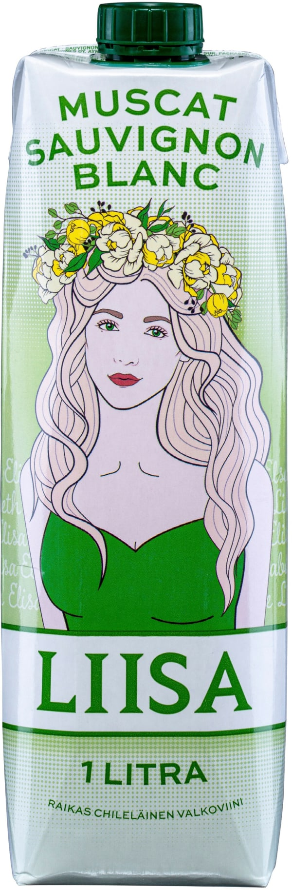 Liisa Muscat Sauvignon Blanc kartongförpackning