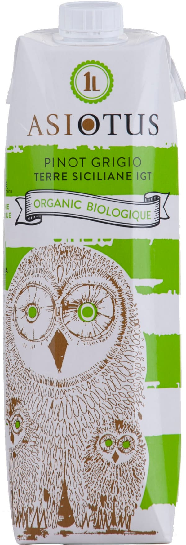 Asio Otus Pinot Grigio Organic 2016 kartonkitölkki