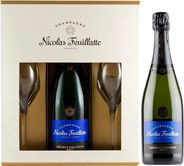 Nicolas Feuillatte Réserve Exclusive Champagne Brut gift packaging