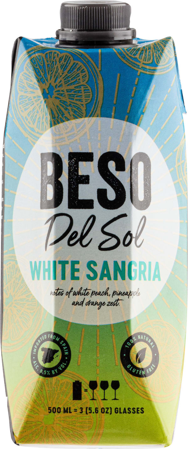 Beso del Sol White Sangria carton package