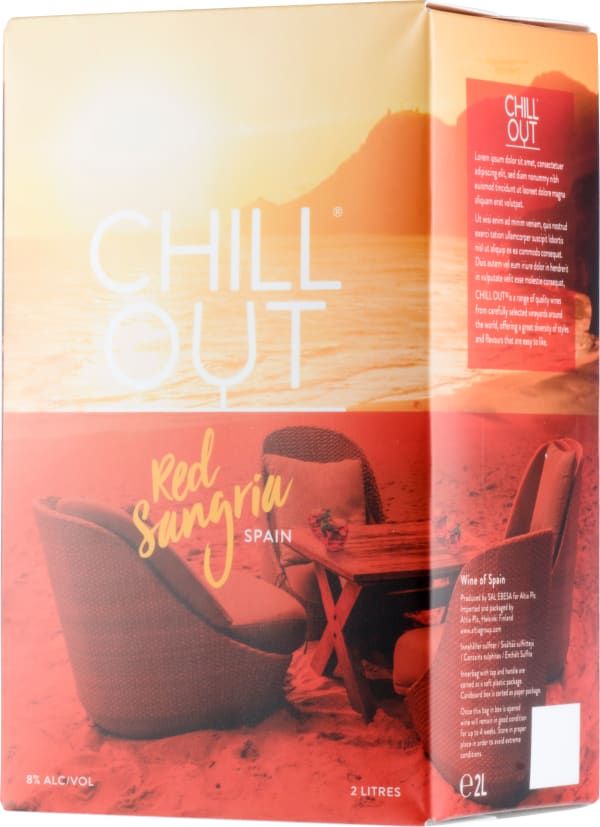 Chill Out Red Sangria lådvin