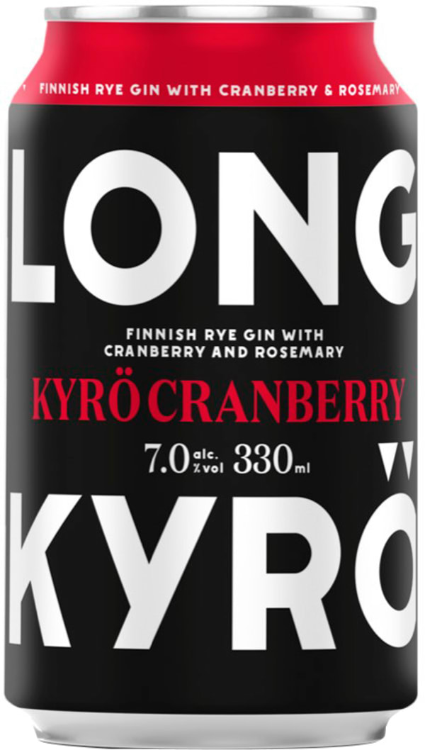 Kyrö Cranberry Strong Long Drink can