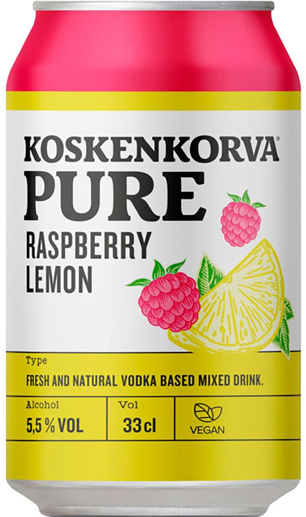 Koskenkorva Pure Raspberry Lemon can