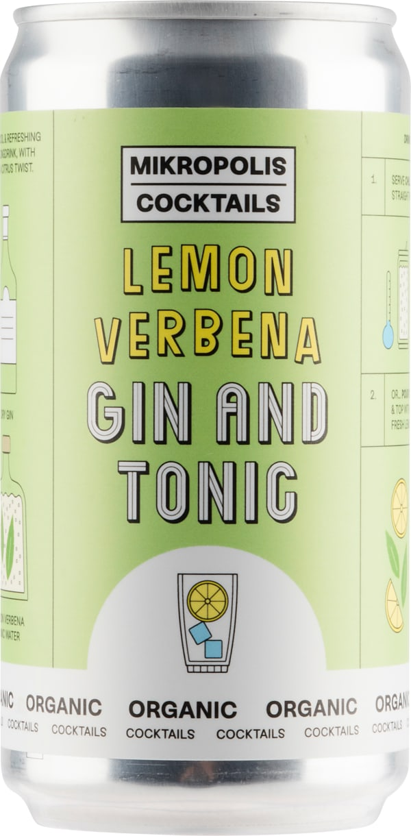 Mikropolis Lemon Verbena Gin And Tonic can