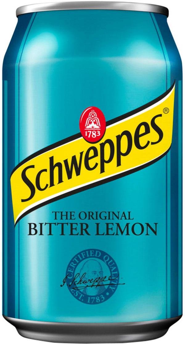 Schweppes Bitter Lemon burk