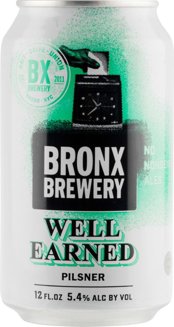 Bronx Well Earned Pilsner can