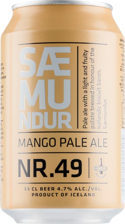 Borg Saemundur Nr. 49 Mango Pale Ale can