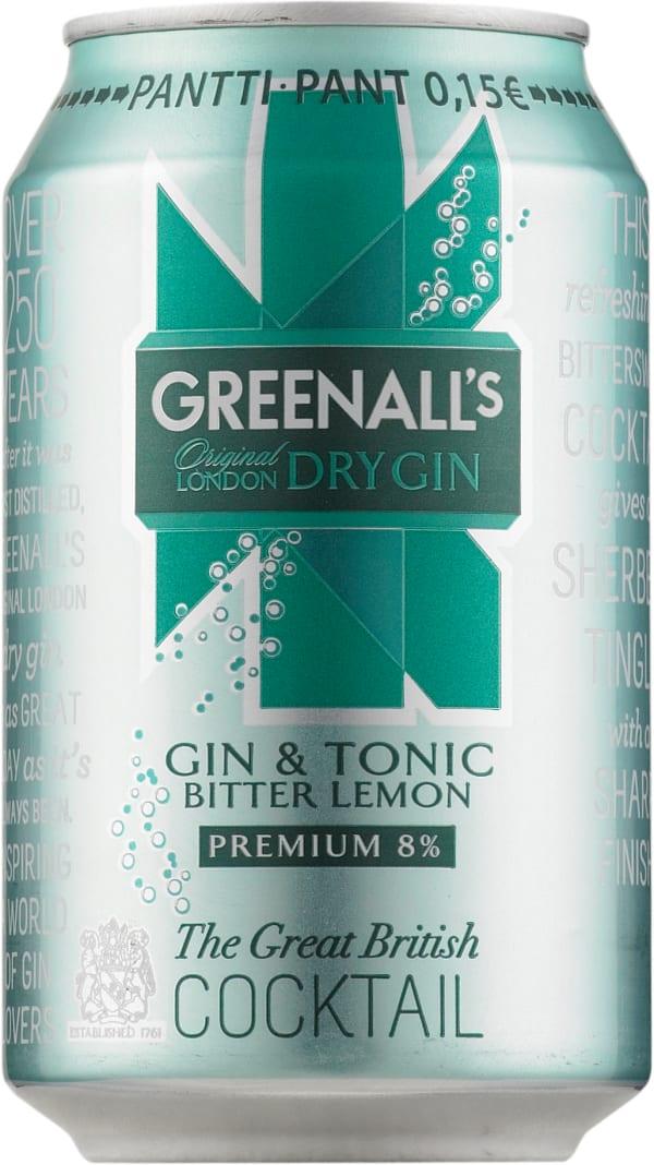Greenall's London Dry Gin & Tonic Bitter Lemon can