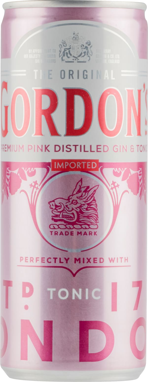 Gordon's Premium Pink Distilled Gin & Tonic can