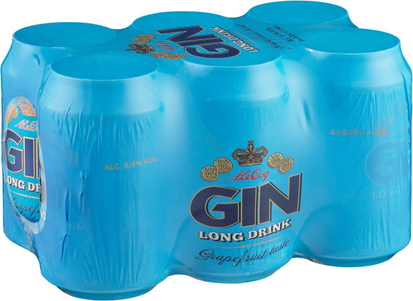A  Le Coq Gin Long Drink 6-pack can