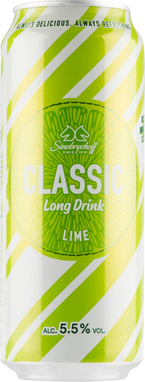 Sinebrychoff Classic Long Drink Lime can