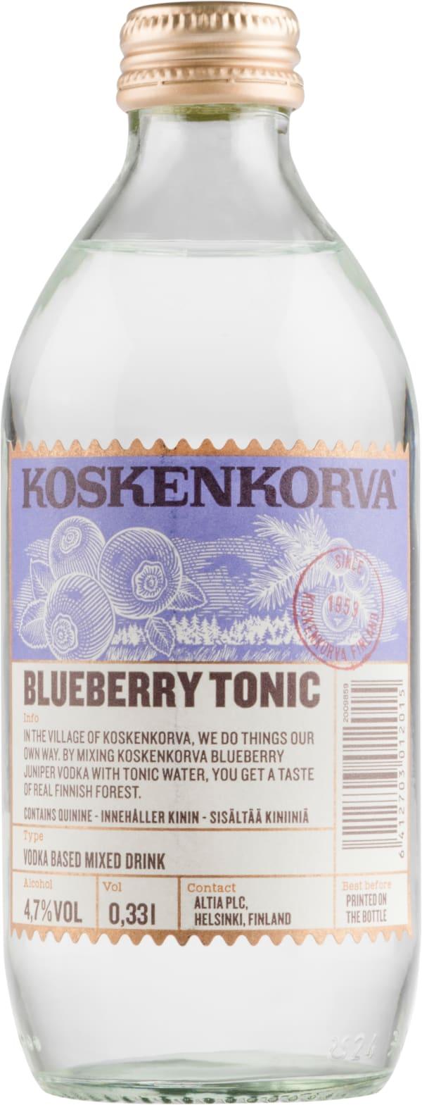 Koskenkorva Vodka Blueberry Tonic
