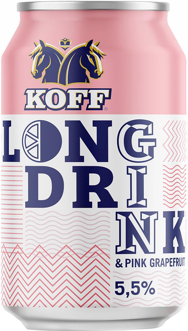 Koff Long Drink Pink Grapefruit can